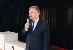 Na zdjęciu Starosta Kraśnicki Krzysztof Staruch przemawiający podczas Mistrzostw Województwa Lubelski