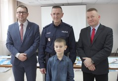 Na zdjęciu od lewej Wicestarosta Kraśnicki Karol Rychlewski, Pierwszy Zastępca Komendanta Powiatowego
