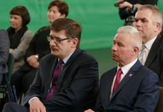 Na zdjęciu od lewej Wicedyrektor ds. Technikum nr 3 oraz Szkoły Branżowej Henryk Cybulak oraz Starosta