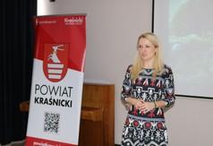 Na zdjęciu kierownik Wydziały Promocji Katarzyna Michalczewska przemawiająca podczas III edycji powiat