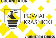 Na zdjęciu logo Powiatu Kraśnickiego- organizatora V Konwencji Fitness.