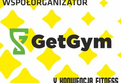 Na zdjęciu logo GetGym- współorganizatora V Konwencji Fitness.