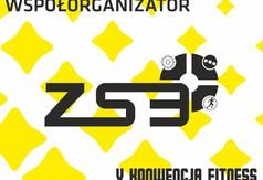 Na zdjęciu logo ZS nr 3 współorganizatora V Konwencji Fitness.