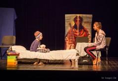 Na zdjęciu Teatr ABRA KADABRA I, podczas przedstawienia Wiara jest najważniejsza.