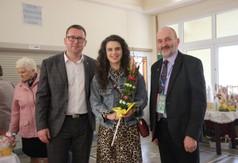 Na zdjęciu od lewej Wicestarosta Kraśnicki Karol Rychlewski razem z żoną Marleną Rychlewską oraz pr