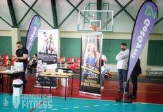 Na zdjęciu stoisko promocyjne firmy siłowni GetGym
