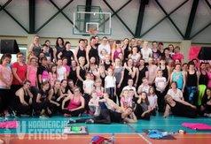 Zdjęcie przedstawia miłośników aktywności fizycznej biorących udział w V Konwencji Fitness