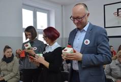 Na zdjęciu od prawej Przewodniczący Rady Powiatu w Kraśniku dr hab. Jarosław Czerw, Przewodnicząca R