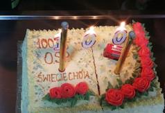 Na zdjęciu tort z napisem 100 lat OSP Świeciechów.