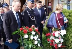 Na zdjęciu członek Zarządu Powiatu Kraśnickiego Tomasz Mularczyk, Wójt Gminy Zakrzówek Józef Potoc