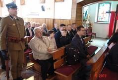 Na zdjęciu uczestnicy wydarzenia Pacyfikacji Studzianek podczas Mszy Św.