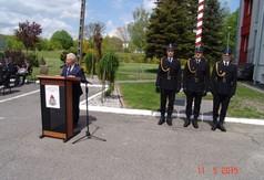 Na zdjęciu przemawiający Starosta Kraśnicki Andrzej Rolla