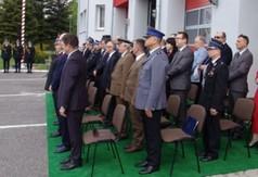 Na zdjęciu uczestnicy spotkania Powiatowych Obchodów Dnia Strażaka.