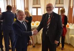 Na zdjęciu Starosta Kraśnicki Andrzej Rolla oraz Dyrektor Generalny WEEDC Stephen MacKenzie.
