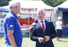 Na zdjęciu Starosta Kraśnicki Andrzej Rolla udzielający wywiadu dla TVP3.