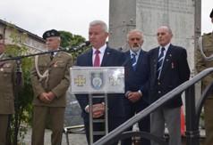 Na zdjęciu Starosta Kraśnicki Andrzej Rolla przemawiający podczas  Święta 24 Pułku Ułanów w Kraś