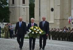 Na zdjęciu Wiceprzewodniczący Rady Powiatu w Kraśniku Roman Bijak, Starosta Kraśnicki Andrzej Rolla o