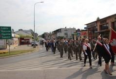 Uczestnicy uroczystości Święta 24 Pułku Ułanów w Kraśniku