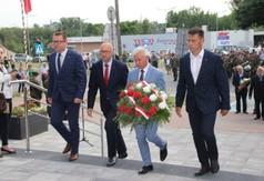 Na zdjęciu od lewej Wicestarosta Kraśnicki Karol Rychlewski, Przewodniczący Rady Powiatu w Kraśniku J