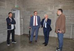 Na zdjęciu Wicestarosta Kraśnicki Karol Rychlewski, Starosta Kraśnicki Andrzej Rolla oraz Kierownik Wa