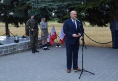 Na zdjęciu Marszałek Województwa Lubelskiego Jarosława Stawiarski przemawiający podczas Dnia Walki i