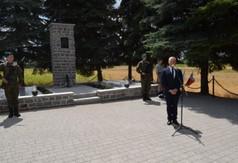 Na zdjęciu Starosta Kraśnicki Andrzej Rolla przemawiający podczas Dnia Walki i Męczeństwa Wsi Polski