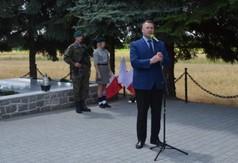 Na zdjęciu Przemysław Czarnek- Wojewoda Lubelski przemawiający podczas Dnia Walki i Męczeństwa Wsi P