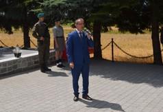 Na zdjęciu Wójt Gminy Gościeradów Mariusz Szczepanik przemawiający podczas Dnia Walki i Męczeństwa