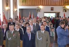 Na zdjęciu uczestnicy uroczystości -Dnia Walki i Męczeństwa Wsi Polskiej podczas mszy św.