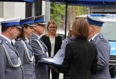 Na zdjęciu Zastępca Komendanta Wojewódzkiego Policji w Lublinie insp. Radek Bąchór i Komendant Powia