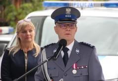 Na zdjęciu Zastępca Komendanta Wojewódzkiego Policji w Lublinie insp. Radek Bąchór przemawiający po