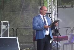 Na zdjęciu Burmistrz Annopola Mirosław Gazda.