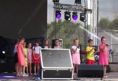 Na zdjęciu dzieci występujące podczas Dni Annopola.