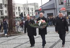 Na zdjęciu Przewodniczący Rady Powiatu w Kraśniku dr hab. Jarosław Czerw,  Wiceprzewodniczący Rady P