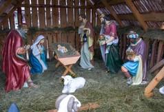 Na zdjęciu szopka bożonarodzeniowa.