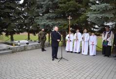 Na zdjęciu Marszałek Województwa Lubelskiego Jarosław Stawiarski przemawiający podczas obchodów Pac