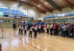 Na zdjęciu drużyny biorące udział w Halowym Turnieju Piłki Nożnej o Puchar Wojewody Lubelskiego i c