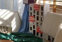 Prace plastyczne wykonane przez uczniów z SOSW w Olbięcinie