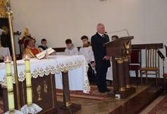 Na zdjęciu Starosta Kraśnicki Andrzej Rolla podczas Mszy Świętej w intencji Młodzieżowej Orkiestry