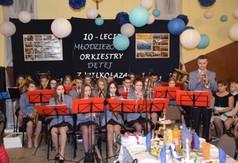 Na zdjęciu Młodzieżowa Orkiestra Dęta z Wilkołaza