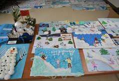Prace plastyczne dzieci bezpieczna droga do szkoły.
