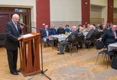 Na zdjęciu prof. Marian Surdacki przewodniczący Społecznego Komitetu Budowy Pomnika w Urzędowie przem