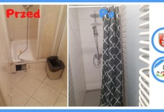 Łazienka w Domu Dziecka w Kraśniku przed i po metamorfozie.