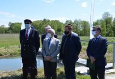 Poseł na Sejm RP Kazimierz Choma, prezes Państwowego Gospodarstwa Wodnego Wody Polskie Przemysław Daca