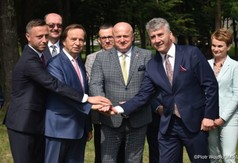 Od lewej Wicemarszałek Województwa Lubelskiego Michał Mulawa, Marszałek Województwa Podkarpacki