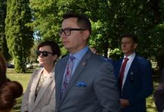 Sekretarz Powiatu Kraśnickiego Łukasz Skokowski, Przewodniczący Rady Powiatu w Kraśniku Jacek Du