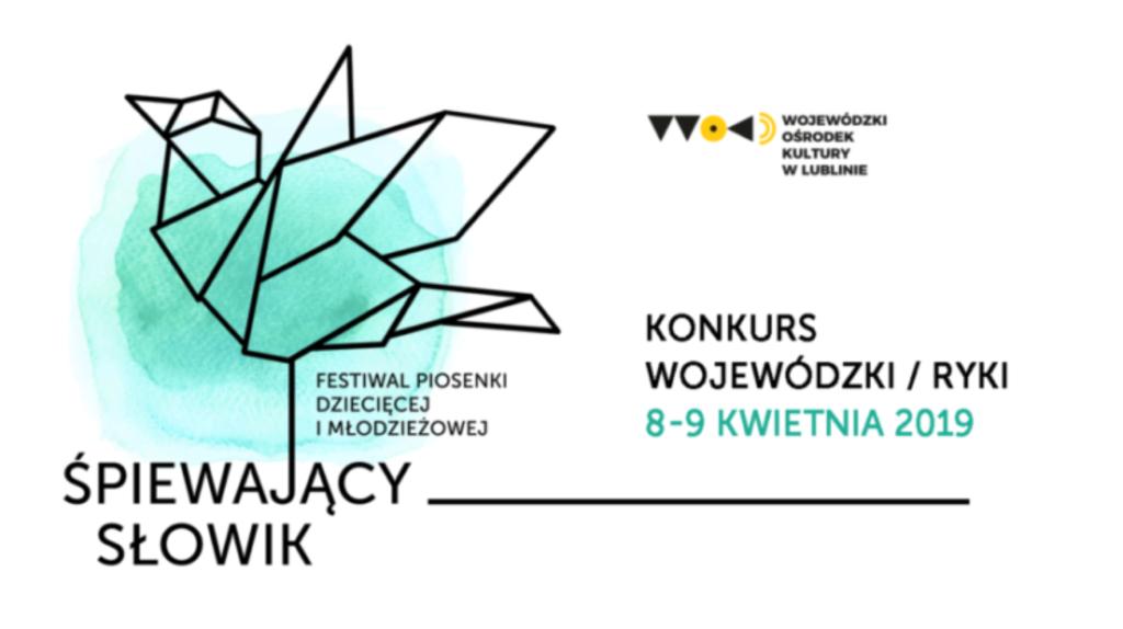 Banner Festiwal Piosenki Dziecięcej i Młodzieżowej Śpiewający Słowik. (link otworzy duże zdjęcie)