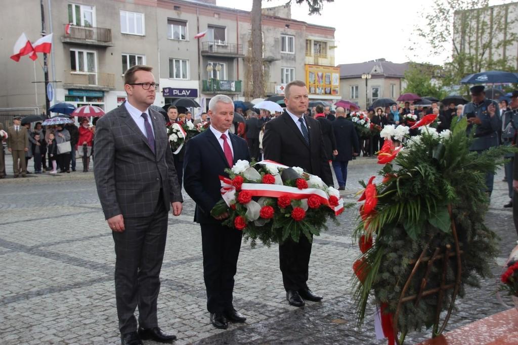 Na zdjęciu od lewej Wicestarosta Kraśnicki Karol Rychlewski, członek Zarządu Powiatu w Kraśniku Toma (link otworzy duże zdjęcie)