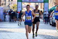 Kamil na trasie biegu