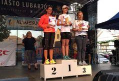 Magdalena Wójcicka na pierwszym stopniu podium w Lubartowie